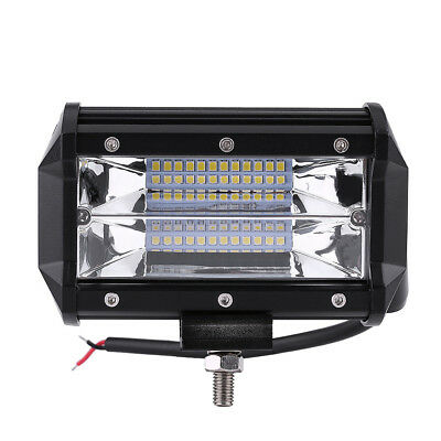 72W SPOT LED Off road Work Light Lamp 12V 24V Car boat Truck Driving UTE 6000K