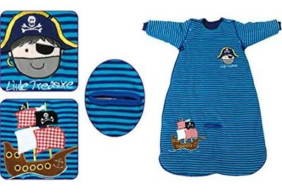 The Dream Bag 6-18months Striped PirateVelour Baby Sleeping Bag 2.5 Tog