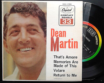 DEAN MARTIN,That's amore.RARE USA EP 33rpm,heavy cover.Easy listening crooner