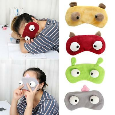 New 3D Soft Blindfold Eye Mask Travel Rest Sleep Aid Shade Cover Cartoon Monster