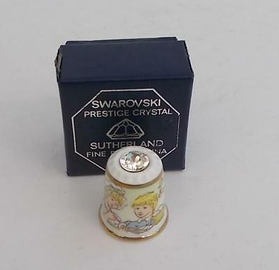 Sutherland China and Swarovski Crystal Boxed Thimble.Decorating Easter Eggs.