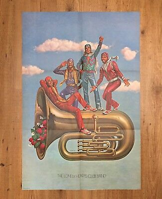 THE LONELY HEARTS CLUB BAND VINTAGE POSTER cm. 56 x 84 NEAR MINT US 1978 BEATLES