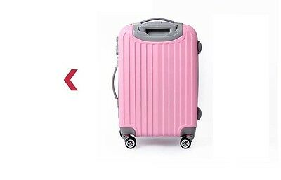 "28"" Pink Thickness 32cm Coded Lock Universal Wheel ABS Travel Suitcase Luggage"