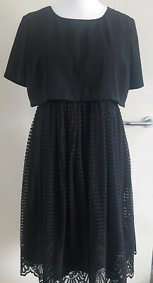 ASOS Maternity- Ladies Womens  Black Lace  Dress- Size 14 Occasion