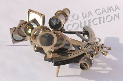 """Nautical Sextant Solid Brass 9"""" Sextant Astrolabe Navigation Working Instrument."""