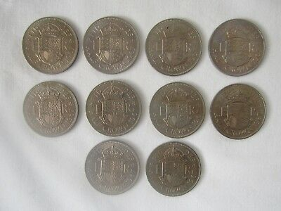 Lot Of 10 Uncirculated 1967 Halfcrowns.