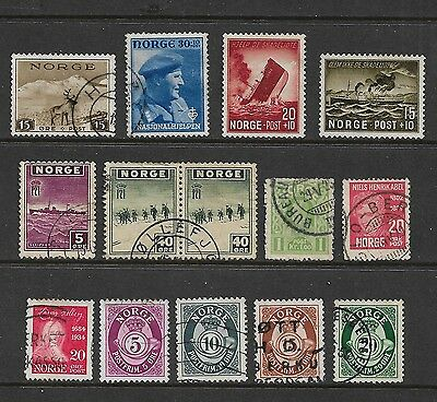 NORWAY - mixed collection No.4, 1907-1946