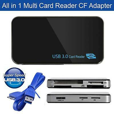 USB 3.0 All in 1 Compact Flash Multi Card Reader CF Adapter Micro SD MS XD 5Gbps