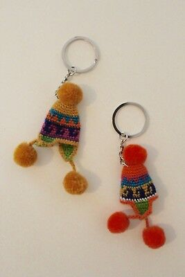 Peruvian Chullo Hat Keyring Multicolor
