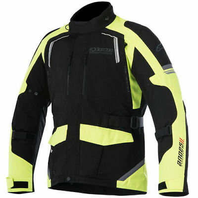 Alpinestars Andes V2 Drystar Waterproof Textile Touring Motorcycle Yellow Jacket