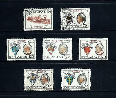 VATICAN CITY _ 1979 '50th ANNIVERSARY' SET of 7 _ mh-used ____(501)
