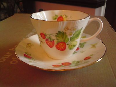 "ringtons Cup & Saucer "" Virginia  Strawberry ""  Fine Bone China.VGC.REDUCED."
