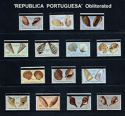 ANGOLA _ 1981 'SEASHELLS' SET of 14 _ mlh ____(501)