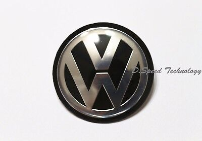45mm Black Chrome Steering Wheel Badge Emblem for VW GOLF MK 5 6 V VI