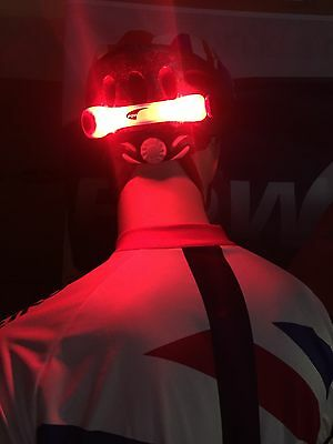 Super Bright LED Light for Bike Bicycle Cycle Helmet/Rucksack RED UK SUPPLIER