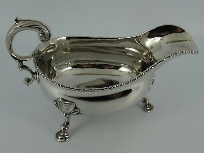 Heavy Georgian George Ii Solid Sterling Silver Gravy Sauce Boat London 1759 397G
