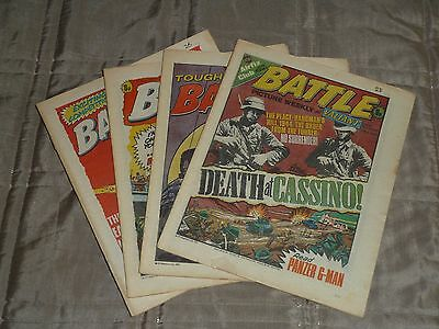 Battle & Valiant 4 issues May 1977