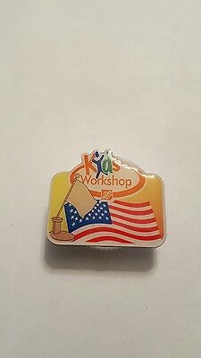 Home Depot Kids Workshop pin. American flag pin. $4 flat rate combined shipping.