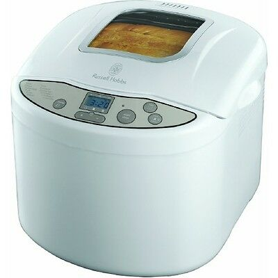 Russell Hobbs 18036 Bread Maker Fast-Bake Function White LCD Display Time Delay