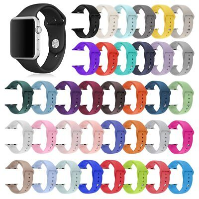 Replacement Silicone Bracelet Sport Band Strap For Apple Watch 42mm 38mm 38 42