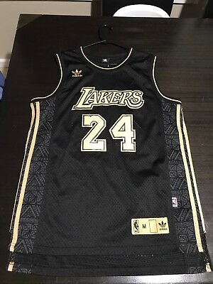 Kobe Bryant Jersey Special Edition Black Gold Lakers Nba Adidas