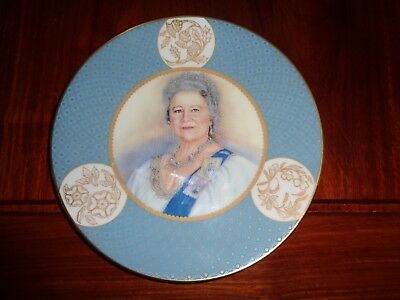 Royal Worcester Collectors Plate TRIBUTE TO THE QUEEN MORTHER 1900-2002