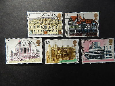 gb stamps s g 975-979 European Architectural Heritage year.