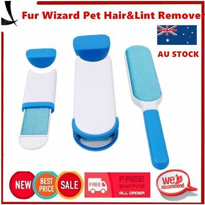 Hurricane Fur Wizard Pet Fur & Lint Remover Portable Hand-held Removal Device MG