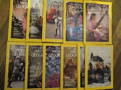 NATIONAL GEOGRAPHIC MAGAZINE: 11 ISSUES FROM THE 1980s