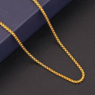 Fashion Women 18K Gold Plated Snake Chain Choker Necklace Jewelry 18-24 inch