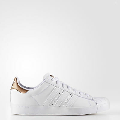 New adidas Originals Superstar Vulc ADV Shoes BB8611 Men's White Sneakers