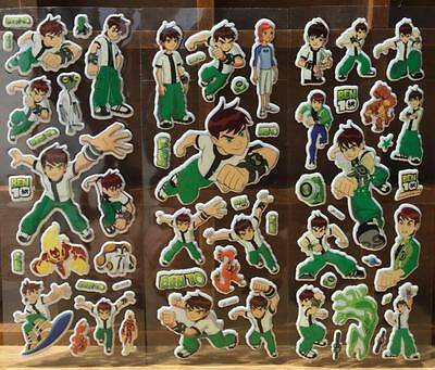 6 Sheets Animation BEN 10 three-dimensional Bubble Stickers Carfts Kid Toy Gifts