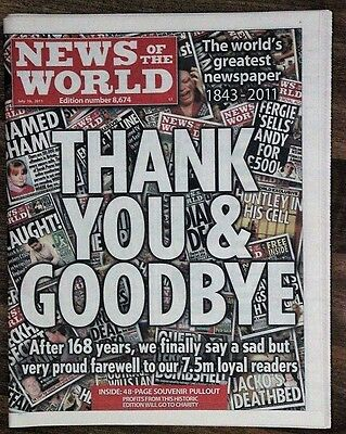 NEWS OF THE WORLD Final issue, July 10, 2011