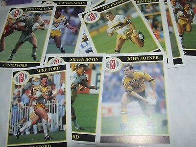 10 x Castleford MERLIN Rugby League Cards 1990's