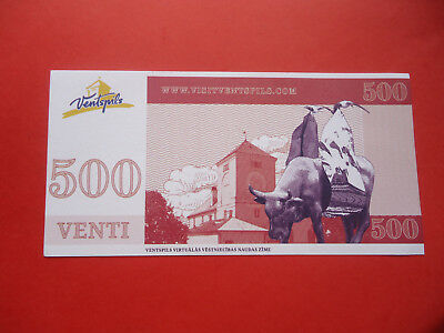 Latvia - Ventspils City Local Currency Venti 2011 UNC Full Pack (6 banknotes)