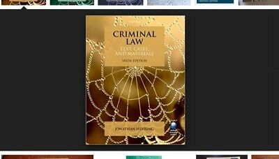Criminal Law Textbook by Johnathan Herring, 6th edition (2014)