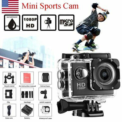 "USA STOCK Waterproof Sports DV 1080P HD Video Action Camera 2.0"" Screen Cam"