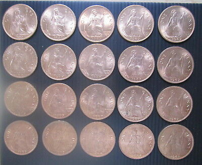 Lot Of 20 Uncirculated 1967 Penny Coins.