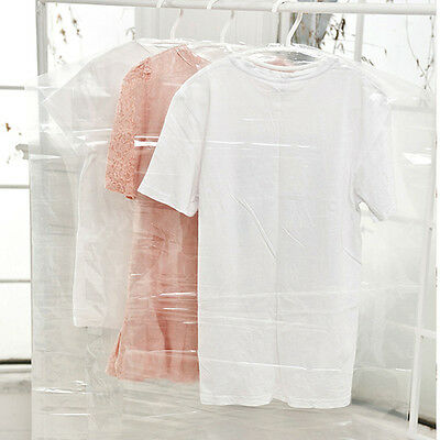 5Pcs Clear Dust-proof Clothes Cover Dress Garment Bags Home Storage Protector