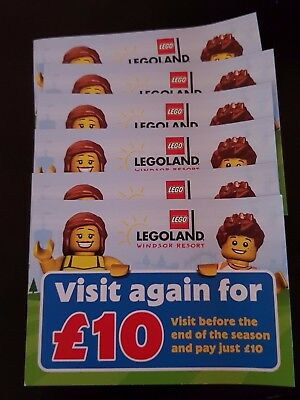 6x Legoland Tickets £10 entry. Adult/Child Valid Half-Term