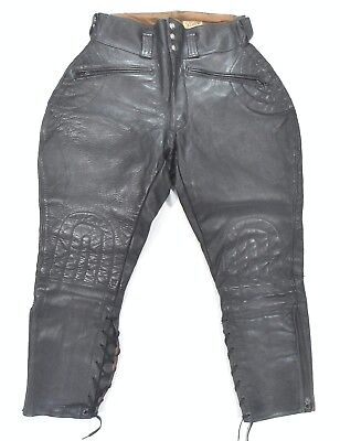 vtg 40S BUCO HORSEHIDE LEATHER MOTORCYCLE PADDED RIDING BREECHES PANTS 30 jacket