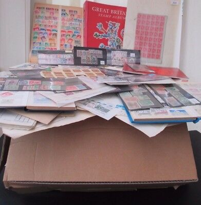 Large Fed Ex Box Full Of Ex Auction Lots, Covers, Collections, Album Pages, Etc