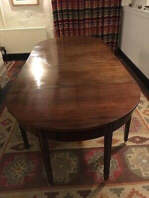 George III Mahogany D-End Extending Dining Table - c. 1780 (Antique Georgian)