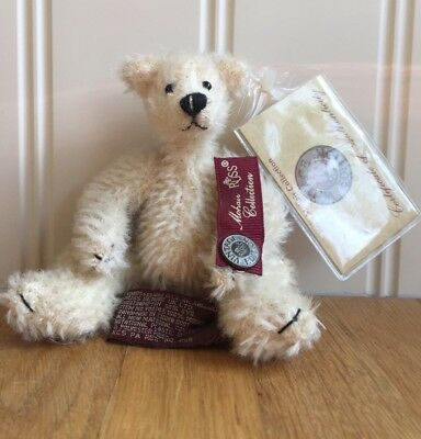 Russ Vintage Edition Mohair Collection Bancroft White Polar Bear Jointed 6""