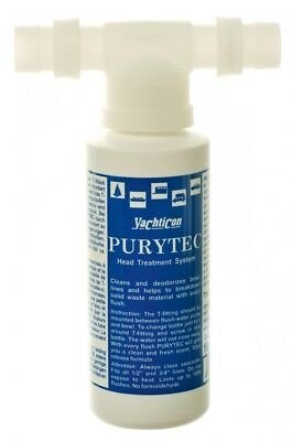 yachticon purytec Set T-piece & 100ml Bottle for Toilet & WC Ship,Boat