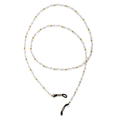 White Beads Neck Cord Lanyard Glasses Spectacle Holder Spectacles Sunglasses