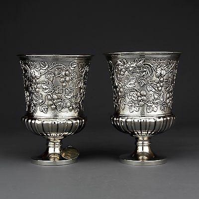 Rare Philip Rundell Ornate Antique Solid Sterling Silver Cup/Goblet, London 1820