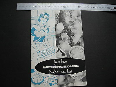 Westinghouse Refrigerator  Care & Use BOOKLET