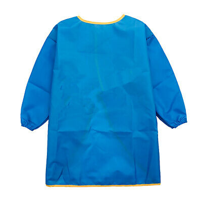 Long Sleeve Apron Drawing Painting Waterproof Smock Kids Children Craft Art