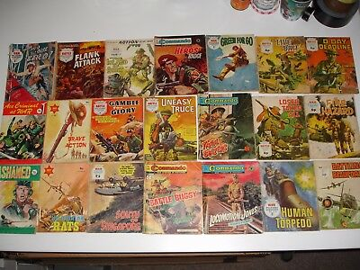 Conflict,Combat,Commando & War Picture Library mix of 41 issues